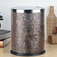 WYMNAME Papierkorb,Runde abfallbehälter für Das