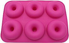 WYNYX 2Pc 6 Löcher Donuts Mold Silikon Runde Form