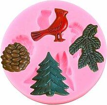 WYNYX DIY Weihnachten Tannenzapfen Vögel