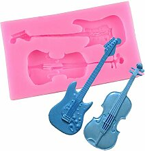 WYNYX Violine Gitarre Silikon Fondant Formen