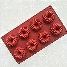 WYNYX Wirbelformen Silikon-Kuchenform zum Backen