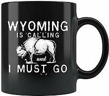 Wyoming-Tasse, Wyoming-Geschenk, Reisebecher,