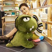 WYQLZ Cartoon Dinosaurier Hold Kissen Sofa schöne Kissen koreanische Student Nap Kissen ( Farbe : Grün , größe : 38cm )