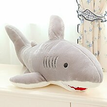 WYQLZ Cartoon Schöne Kreative Shark Hold Pillow Home Nacht Sofa Kissen Kind Stofftier ( größe : 130cm )