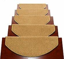 WYQLZ Dick Gelb Treppe Schrittmatten rutschfeste Matten Haus Schlafzimmer Gang Treppenmatten Umweltschutz Teppich ( größe : 24*100cm )
