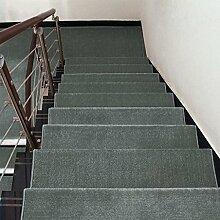 WYQLZ Dick graue Treppe Schrittmatten rutschfeste Matten Haus Schlafzimmer Gang Treppenmatten Umweltschutz Teppich ( größe : 24*90cm )