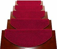 WYQLZ Dick rote Treppe Schrittmatten rutschfeste Matten Haus Schlafzimmer Gang Treppenmatten Umweltschutz Teppich ( größe : 24*80cm )