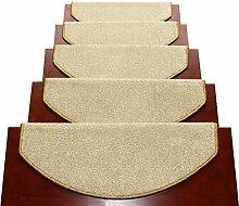 WYQLZ Dicke Beige Treppenstufen Matratzen Rutschfeste Matten Haus Schlafzimmer Gang Treppenmatten Umweltschutz Teppich ( größe : 24*75cm )