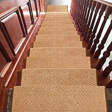 WYQLZ Dickes braunes Treppenhaus Treppenmatten rutschfeste Matten Haus Schlafzimmer Gang Treppenmatten Umweltschutz Teppich ( größe : 24*75cm )