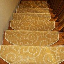 WYQLZ Dickgelb Jacquard Treppenhaus Treppenmatten rutschfeste Matten Haus Schlafzimmer Gang Treppenmatten Umweltschutz Teppich ( größe : 24*80cm )