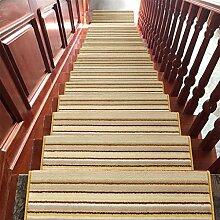 WYQLZ Dickstreifen Treppenstufen Treppenmatten Rutschfeste Matten Haus Schlafzimmer Gang Treppenmatten Umweltschutz Teppich ( größe : 24*90cm )
