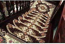 WYQLZ Europäische Brown Treppe Schrittmatte Anti-Rutsch-Teppich Haushalt Produkte 2 Stück Set ( größe : 24*80cm )