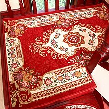 WYQLZ Europäische rote Treppe Schrittmatten rutschfeste Matten Haus Schlafzimmer Gang Treppenmatten Umweltschutz Teppich ( größe : B-100*100CM )