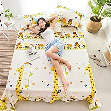 WYQLZ Gelb Lovely Giraffen Muster Baumwoll Bettwäsche Einzelstück Doppelbett Bettdecken 1.2m 1.5m 1.8m 2.0m Bett Student Dormitory Heimtextilien ( größe : 180*230cm )