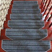 WYQLZ Grau Streifen Treppenstufen Matrizen rutschfeste Matten Haus Schlafzimmer Gang Treppenmatten Umweltschutz Teppich ( größe : 24*80cm )