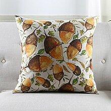 WYQLZ Handgemalte Pflanze Muster Baumwolle Leinen Halten Kissen Home Office Sofa Nacht Kissen ( Kapazität : Including pillow core , größe : 45*45cm )