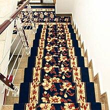 WYQLZ High-Density-Verdickung Home Blue Treppenstufen Matten Rutschfeste Matten Schlafzimmer Gang Treppenmatten Umweltschutz Teppich ( größe : 24*80cm )