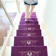WYQLZ Lila Haus Treppenhaus Klappmatte rutschfest Umweltschutz Teppich 4 Stück Set ( Farbe : C , größe : 55*24.5cm )