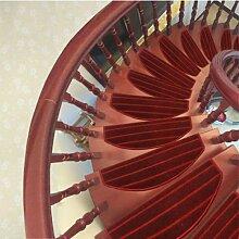 WYQLZ Thick Wine Rot Streifen Teppich Hause Korridor Restaurant Gang Treppenhaus Matte Matrizen Anti - Skid Anti - Kollision langlebig 2 Stück Set ( größe : 75*24cm )