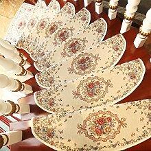 WYQLZ Treppenhaus Treppenmatten rutschfeste Matten Haus Schlafzimmer Gang Treppenmatten Umweltschutz Teppich ( größe : 24*80cm )