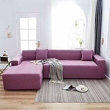 WYSTLDR Einfache Gitter-Stretch-Sofabezug,