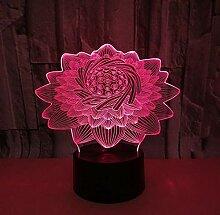 WYXDJ Lotus 3D Illusion Lampe Stimmungslampe 7