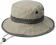 WYYY Hüte Männer Visier Flache Oberseite Zusammenklappbar Crimpen Stickerei Atmungsaktiv Sonnenschutz Im Freien ( Farbe : Khaki )