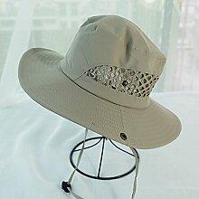 WYYY Hüte Männer Visier Runde Spitze Zusammenklappbar Crimpen Atmungsaktiv Sonnenschutz Im Freien ( Farbe : Khaki )