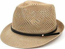 WYYY Hüte Männer Visier Runde Spitze Zusammenklappbar Mesh Crimpen Atmungsaktiv Sonnenschutz Im Freien ( Farbe : Khaki )