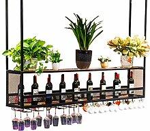 WZB Weinregal mit Glashalter aus Holz