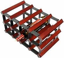 WZB Weinregale Freistehende Holz und Metall Stahl