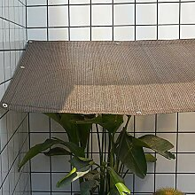 WZF Schatten Stoff Kaffee Farbe Shading Net Balkon