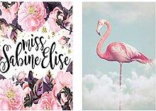 wzgsffs Nordic Flamingo abstrakte Blume Englisch