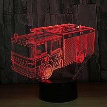 Wzngzj 3D Nachtlichter Für Kinder Feuerwehrauto