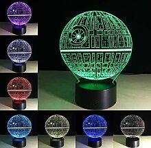 Wzngzj Illusion Lampe Star Wars Death Star - 6953D
