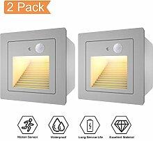 WZOED Treppenlicht mit Bewegungsmelder 2er LED