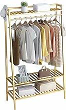 WZP Kleiderbügel-goldene Garderobe, bodenstehende