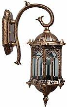 WZQ Vintage Wandlampe,Metall Messing Antik