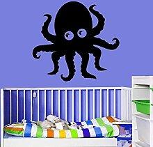 wZUN Cartoon Design Octopus Wandaufkleber Home