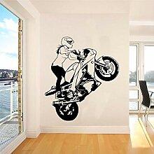 wZUN Mädchen reiten Motorrad Aufkleber Motorrad