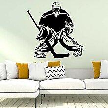 wZUN Niedliche Hockey Wandkunst Aufkleber für