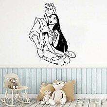 wZUN Prinzessin Vinyl Aufkleber für Kinderzimmer
