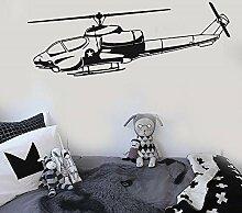 wZUN Vinyl Wandtattoo Hubschrauber Militärkrieg