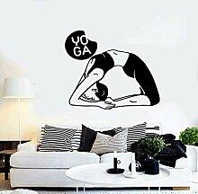 wZUN Wandaufkleber Vinyl Aufkleber Yoga Pose