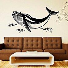 wZUN Whale Sea Animal Wandaufkleber Vinyl Home