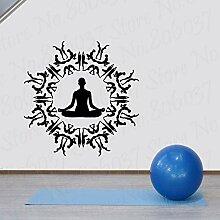 wZUN Yoga Pose Design Aufkleber Vinyl Dekoration