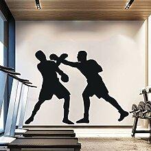 wZUN Zwei Boxer Boxen Silhouette Wandmalerei