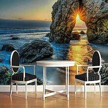 WZYMNBZ 3D Fototapete Meer Sonnenuntergang