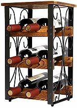 X-cosrack Rustikales Weinregal für 6 Flaschen,