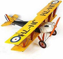 X&L 1 m großen Flugzeugmodell Metall Retro-Kämpfer Modell Fotografie Requisiten Sammlung von Hauptdekoration bar (102 * 104 * 49) , 102*104*49